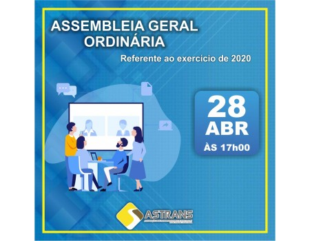EDITAL DE CONVOCAÇÃO PARA 1ª ASSEMBLÉIA GERAL ORDINÁRIA DO ANO DE 2021